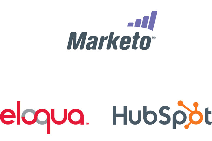 Logos of Hubspot, Marketo, Eloqua